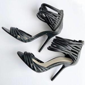 HERVE LEGER Strappy Heeled Sandal Black Size 6